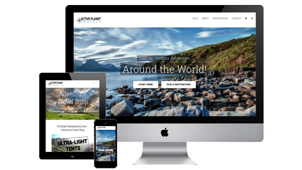 Active Planet Travels Web Design Case Study
