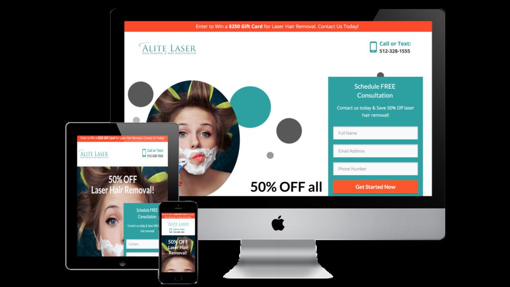 Alite Laser Landing Page Design Case Study