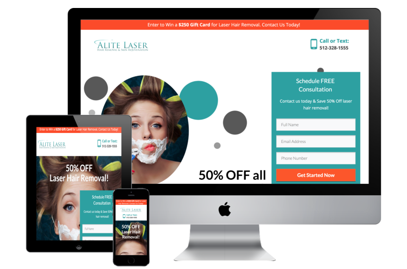 Alite Laser Landing Page Case Study