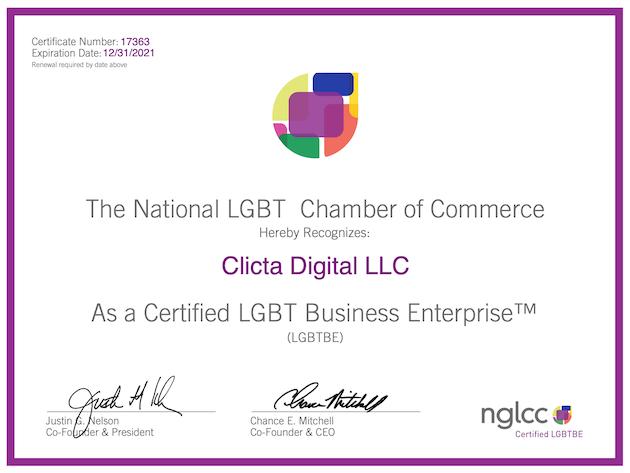 lgbt certified business