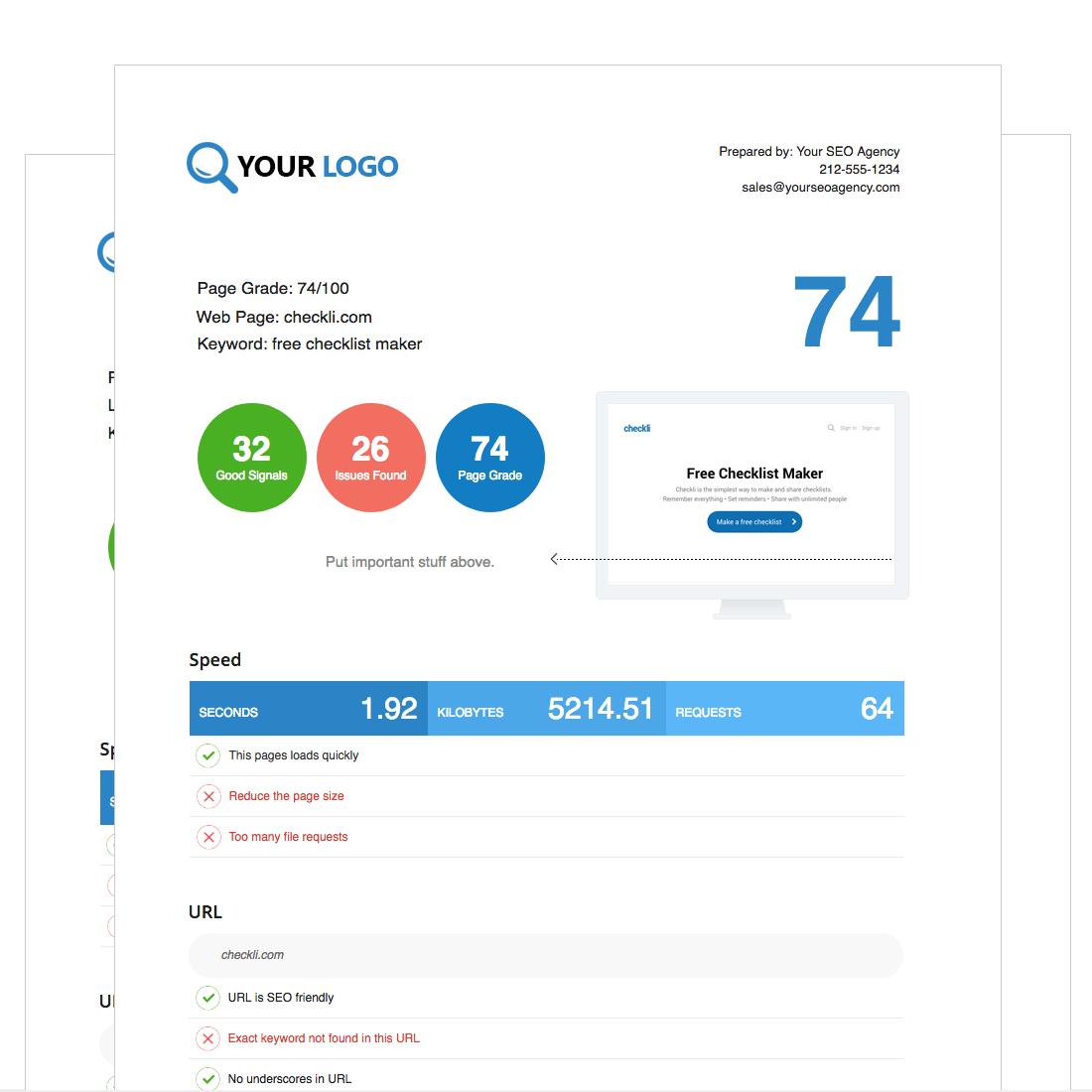 free website SEO audit tool